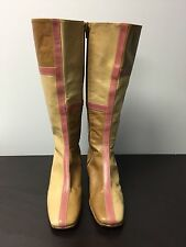 Valentino Garavani Beige /Tan /Pink Leather Boots Size 36 US 6