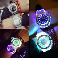 Fashion Unisex Quartz Analogue Led Flash Light Up Glow Lovers Watch Black Friday