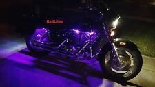 10 Pc Yellow Neon Flexible LED Motorcycle Lighting Kit with Remote and EFX!