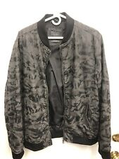 Zara Camouflage Bomber Jacket Mens XL Camo Full Zip