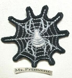 SPIDER & WEB Iron On Sew On Embroidered Patch Badge appllique