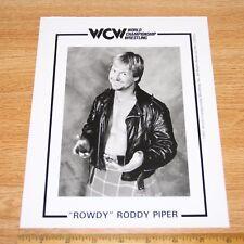 Rowdy Roddy Piper official original 8x10 wcw wwe wwf promo photo 1997