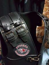 Vest real genuine leather with patch Russian Motorcyclists from Night Wolves