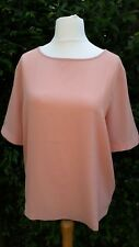 SELECTED FEMME - BNWT - Vilda Short Sleeve Top Blouse - Coral - Size 14
