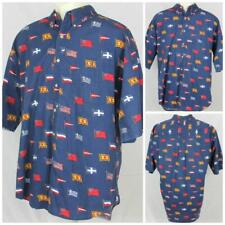 Preswick & Moore Fun with Flags Great Big Bag Theory Finale Party Shirt Lg