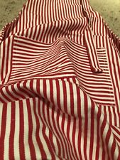 Now Designs Cotton Kitchen Chef's Christmas Red White Stripe Apron Everyday Fun