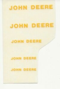 JOHN DEERE Decals, Block Style for 1/16 Implements, Computer Cut