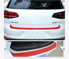 4D Auto Rear Bumper Trunk Carbon Fiber Protection Sticker Decal Car Styling Red