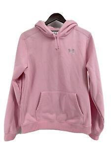 Under Armour Womens UA Tech Hoodie Long Sleeve Size M Pink White Trim Logo