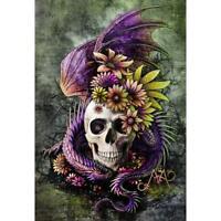 5D DIY Full Drill Diamond Painting Skull Cross Stitch Embroidery Mosaic Kit #gib