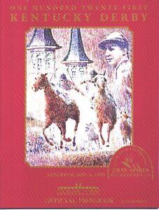 1995 - 121st Kentucky Derby program in MINT Condition - THUNDER GULCH