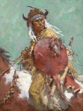 Howard Terpning CHEYENNE RED SHIELD Giclee Canvas Native American #4/175