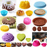 Silicone Round Cake Bundt Mold Pan Muffin Bread Pizza Pastry Bakeware Tray Mould