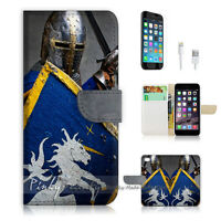 ( For iPhone 7 ) Wallet Case Cover P1473 Knight