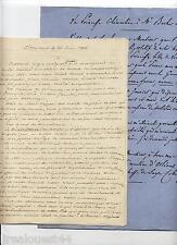 1 lettre copie princesse Clementine d'Orléans Saxe + LAS Louis d'Orléans 1856