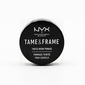 NYX Professional Makeup Tame & Frame Tinted Brow Pomade BLACK - NEW - Open Box