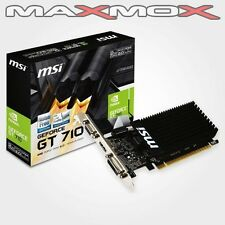MSI 2GB GT 710 NVIDIA PC Grafikkarte 2048MB DDR3 PCI Express HDMI DVI VGA neu