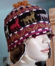 NUOVO Cappello Peruviano LLAMA Multicolore Con Flap Ear 34f53176263a