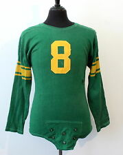 vintage 50s 60s GAME USED durene FOOTBALL JERSEY w STRAP packers colors