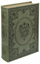 VERDIGRIS GREEN STORAGE BOX, THAT LOOKS LIKE A BOOK! A GREAT GIFT! MIRRORED