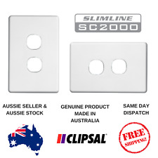White Cover Plate to suit Clipsal Slimline 2 Gang Switch or outlet SL2032VH