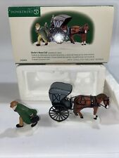 Dept. 56 1999 New England Doctor's House Call #56.56616 2Pc. Set Dr. & Carriage