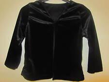 Black velvet top, cardigan, 3-4 years, ex-BHS, BNWOT