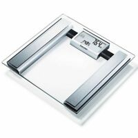 Beurer BG39 Glass Diagnostic Bathroom Scale with Body Fat/Water & Large Display