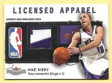 03/04 Patchworks Licensed Apparel #MB Mike Bibby 2 Color Nameplate Patch #02/50