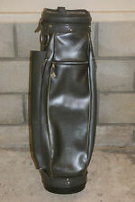 "Vintage HOT-Z 36"" Gray Faux Leather 6-Way Golf Cart Bag with Strap"