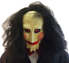 Halloween-Evil-Scary-Horror-Film JIGSAW-CREEPY GRUESOME OVERHEAD MASK One Size