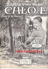 "AFRICANA Sheet Music ""Chloe"" BROADWAY Show starring ETHEL WATERS"