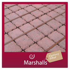 DRIVEWAY BLOCK PAVING MARSHALLS PRIORA PERMEABLE 80MM RED MIN ORDER REQR'D