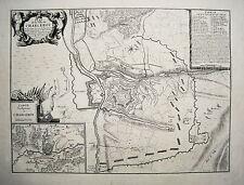 Charleroi Hennegau Belgien Wallonie  Belagerung 1693 alter  Kupferstich 1698