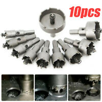 10pc 16mm-50mm Steel Carbide Tipped Drill Bit TCT Metal Wood Cutter Hole Saw