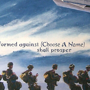 A Prayer for Soldiers Personalized Armed Forces Christian Fine Art Print
