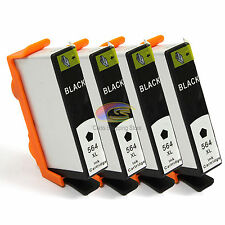 4x Ink Cartridge for HP 564XL Black Only HP 7510 7520 6510 6520 5510 5520 3070