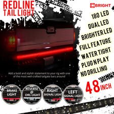 48-Inch 2-Row LED Truck Tailgate Light Bar Strip Red/White Reverse Stop Turn New