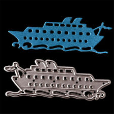 Simple Cruise Ship Metal Cutting Dies for Cards Scrapbooking Album Decors BH