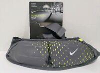 Brand New Nike Unisex DOUBLE FLASK BELT 20OZ NEW NRL890570S GREY & VOLT SP17 NWT