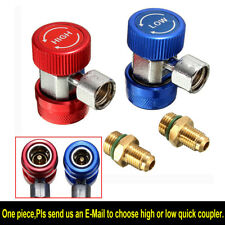 1PC R134A High Low Quick Coupler Adapter AC Manifold Gauge +Extractor Valve Core