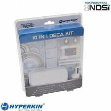 NEW White 10 Piece Deca Accessory kit for Nintendo DSi Case Car Charger Earphone