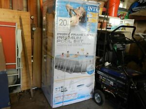 Brand New Intex 20ft X 10ft X 48in Prism Frame Oval Above Ground Pool Set
