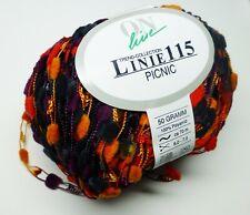 ONline Linie 115 Picnic knitting yarn - 50g balls - shades orange/purple/black