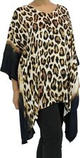 Plus Size Leopard Print Tunic Kaftan Top - Suits up to Size 26  - Aussie Seller