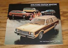 Original 1978 Ford Station Wagon Sales Brochure 78 LTD Fairmont Pinto