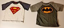 DC Comics Boys Shirts Superman Batman shirt 18 months 18M superhero logo lot