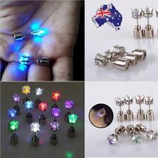 1 Pair Bright Light Up LED Earrings Christmas Gift Party Night Bling LED Studs