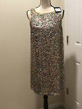 St.John Collection Sequined NWT Multicolored  Cocktail dress size  M 1795$$