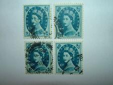 1955 10d PRUSSIAN BLUE WILDINGS x 4 WMK ST EDWARD'S CROWN (sg552) VFU CV £11